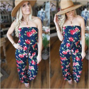LAST ONE! On The Lookout Jumpsuit-Navy